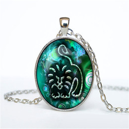 Leo Pendant Necklace Australia - Romantic 12 Horoscope Zodiac Leo Time Gem Glass Cabochon Chokers Jewelry For Womens Mens Silver Long Chain Pendant Necklace Charm Party Gift