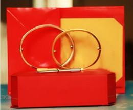 Claw bar online shopping - 2019 New Titanium Steel Love Bracelets silver rose gold Bangles Women Men Screw Screwdriver Bracelet Couple without original box set