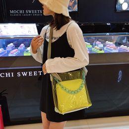 $enCountryForm.capitalKeyWord NZ - Luxury Handbags Women Bags Designer Jelly Tote Big Capacity Traveling Wrist Bag PVC Clear Transparent Acrylic Crossbody Bags