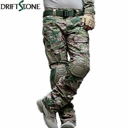 $enCountryForm.capitalKeyWord UK - Camouflage Tactical Pants Army Uniform Trousers Paintball Combat Cargo Pants With Knee Pads