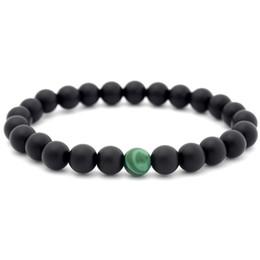 $enCountryForm.capitalKeyWord UK - Yinyang Stone Bead Bracelet Black Scrub Malachite Bracelet Wristbands Women Men Fashion Jewelry k3415