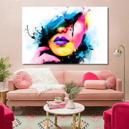 $enCountryForm.capitalKeyWord Australia - 1 Pcs Modern Abstract Posters and Prints Wall Art Canvas Painting Watercolor Women Portrait Decorative Pictures No Frame