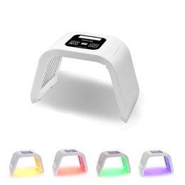 Ingrosso La luce facciale PDT della luce del LED della luce all'ingrosso 4 per la macchina di bellezza di terapia della pelle per la pelle del fronte Attrezzatura di bellezza del salone di ringiovanimento