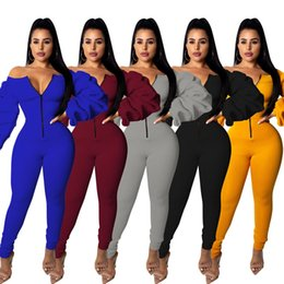 $enCountryForm.capitalKeyWord Australia - Women plus size Jumpsuits & Rompers fall winter sexy & club sportswear high stretch bodysuits full-length leggings pants Heavy weight 1052