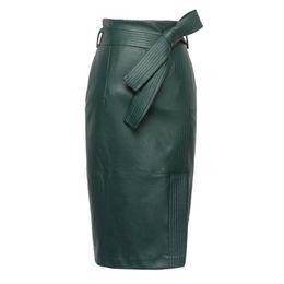 $enCountryForm.capitalKeyWord UK - 3XL 4XL PU leather Skirt Women Plus Size Autumn Winter Sexy High Waist Faux leather Skirts Womens Belted Fashion Pencil Skirt T5190615