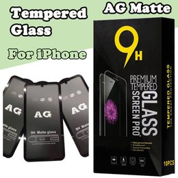 $enCountryForm.capitalKeyWord NZ - AG Matte 9H Premium Curved Tempered Glass Film Screen Protector Proof For iPhone XS Max XR X 8 7 6S Plus Full Cover Anti-scratch with Box