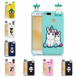$enCountryForm.capitalKeyWord Australia - Universal Case For Xiaomi 5X A1 Pasted 3D Funny Panda Dog Cat Pineapple Sticking a Little Silicon Doll 61 Models Option