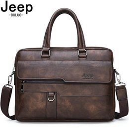 48aa7d9dce33 BULUO Big Brand Man Business Briefcase Bag Split Leather High Quality Men  office Bags For 14 inch Laptop A4 File Causel Male