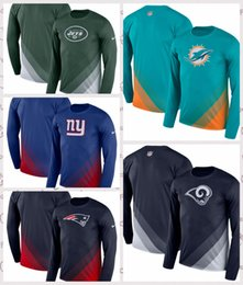T Shirt Compressed Australia - Men's Jets New York Giants Dolphins Miami Los Angeles Rams Sideline Legend Prism Performance Long Sleeve T-Shirt