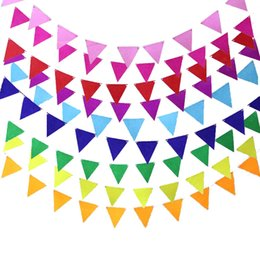 $enCountryForm.capitalKeyWord Australia - Multicolor Non-woven Pennants Bunting Banner Wedding Valentine's day birthday party Flags Hang Garland Decoration Supplies cheap