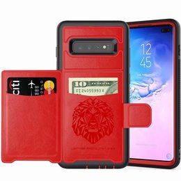 Wholesale Credit Cards Slot Armor Leather Case For Iphone XR X XS Max S Plus Samsung Galaxy S9 Plus NOTE9 Fold Holder Stand Skin Cover