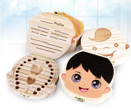 $enCountryForm.capitalKeyWord NZ - Colored Painting Baby Tooth Box Storage for Children Save Milk Teeth Boys Girls Image Wood Organizer Deciduous Teeth Boxes Gifts SN2398
