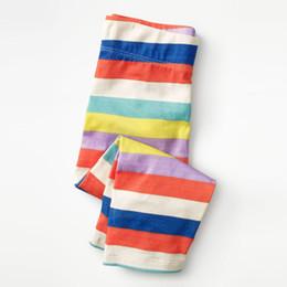 $enCountryForm.capitalKeyWord NZ - 2019 new hot sale models spring summer autumn and winter cotton rainbow stripes knit girls Mid waist leggings