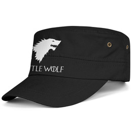 Little Hats UK - Womens Mens Flat-along Adjustable Game of Thrones One Piece Little Wolf Hip Hop Cotton Trucker Hats Summer Travel Hats Military Caps Airy Me
