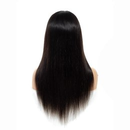 Closure Human Hair Wigs UK - 180% Density Lace Front Human Hair Wigs Brazilian Straight Human Hair Wigs Pre Plucked 4*4 Lace Closure Wig For Women Remy Hair
