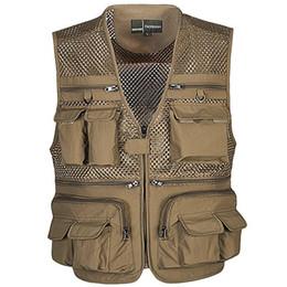 Wholesale photographers' vests for sale - Group buy Tactical Vest Coat Fashion Men s Summer Photographer Waistcoat Mesh Work Sleeveless Jacket Tool Many Pocket Vest Male