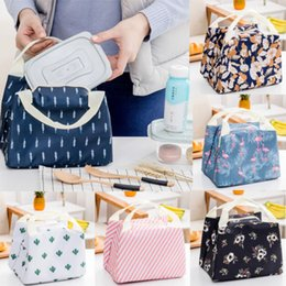 Big Storage Boxes Australia - Big Insulated Lunch Bag for Women Men Thermal Cooler Lunch Box Picnic Storage Hot Canvas Bags