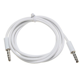 $enCountryForm.capitalKeyWord Australia - New 4 Pole 1m 3.5mm Audio To Male Record Car Aux Audio Cord Headphone Connect Cable White