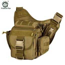 Dslr Cameras Free Shipping Australia - DSLR Tactical Camouflage Camera Pack Women Messenger Bag Men Outdoor Sport Bags Waterproof Nylon Saddle Bag Free Shipping D029 #159195