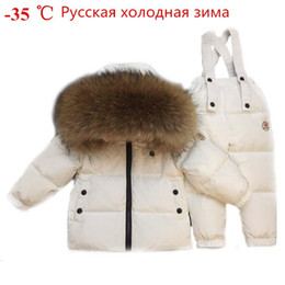 $enCountryForm.capitalKeyWord Australia - Russian Winter Toddler Clothes Set Baby Duck Down Suit Boys Clothing Kids Tracksuits Children Snow Wear Thick Coat Fur Overall