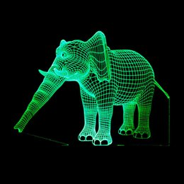 $enCountryForm.capitalKeyWord Australia - 2018 Foreign Trade New Pattern Elephant 3d Small Night-light Colorful Touch Remote Control Led Gift Decoration Small Desk Lamp