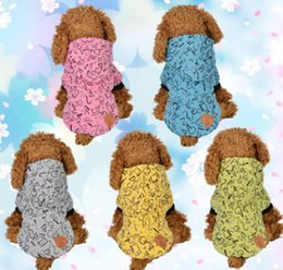 extra small wholesale clothes 2019 - Letter Pattern Pet Cotton Coat Dog Cat Winter Warm Thicken Clothes Creative New Style Puppy Teddy Kitten Apparel discoun