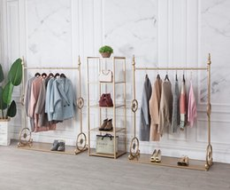 displays for clothes NZ - Tieyi clothing store display rack for women's clothing store rack combination display special gold