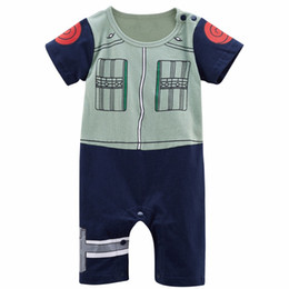 Wholesale halloween costume toddler for sale - Group buy Baby Boy Kakashi Funny Costume Infant Party Cosplay Playsuit Toddler Cute Cartoon Naruto Cotton Jumpsuit Halloween Cosplay Cos