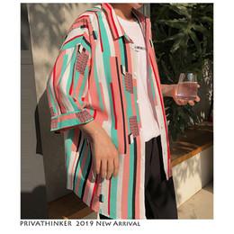 Colorful Mens Casual Shirts Australia - Men Colorful Floral Print Shirt Streetwear 2019 Mens Casual Korean Summer Shirt Single Breasted Shirts Short Sleeve