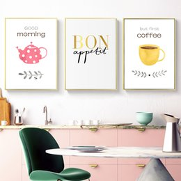 AbstrAct pAinting Art for kitchen online shopping - Modern Abstract Posters And Prints Wall Art Canvas Painting Greetings Words Wall Pictures For Kitchen Decoration Frameless