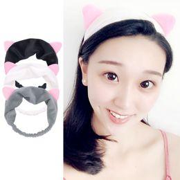 Factory Sale Makeup NZ - Korean version of cat ears hair band ladies cute sports makeup wash cat ears hair band hair accessories factory direct sales