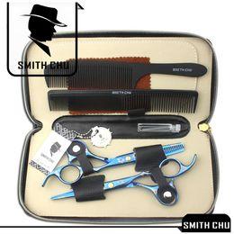 $enCountryForm.capitalKeyWord Australia - 6.0Inch Smith Chu Best Scissors Professional Hair Scissors Cutting & Thinning Shears Salon Razor Hairdressing Barber Set with Case K5445