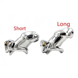 chastity device anti masturbation 2021 - New Stainless Steel Cock Cage Chastity Cages Cockcages Anti masturbation Device Quality Adult Sex Toys for Men WQ-HT dis