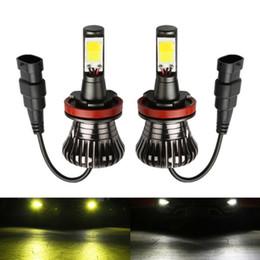 Car Fog Lamp Reasonable 2pc Car H1 Led H3 880 881 H27 10w Cob Led White Fog Lamp Driving Light Lamp Bulb Ice Blue Led Auto Daytime Running Light Drl 12v