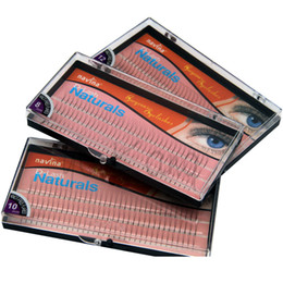 false eyelashes 12mm Australia - fashion 102 Strips Individual False Eyelash D-curl 0.12mm Thickness 3d W Fake Eyelashes Extension Strips 8mm 10mm 12mm