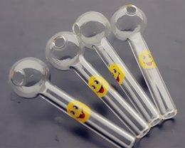 $enCountryForm.capitalKeyWord Australia - QBsomk SMILE logo glass oil burner water pipes oil burners pipe thick glass tube clear smoking pipes for pipes cheap hand pipe