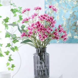 "China Fake Short Stem Campanula (2 stems piece) 21.65"" Length Simulation Windbell Flowers for Wedding Home Decorative Artificial Flower supplier flower lights stems suppliers"
