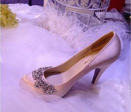 $enCountryForm.capitalKeyWord Australia - 2019 Spring And Autumn Round Toe Satin Rhinestone Platform Pumps Wedding Evening Party High Heels Formal Shoes Woman
