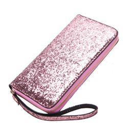 $enCountryForm.capitalKeyWord Australia - New Fashion 2019 Women Wallet Bling Zipper Wallet Leather Long Women Purse Card Money Phone Holder Wristband Black Purple Silver