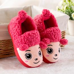 Slipper Sheep online shopping - Winter Children Slippers Boys Girls House Cotton Sheep Shoes Kids Slippers Indoor Baby Fur Warm Children Shoes