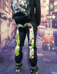 Evisus mens jeans designer de nova mens jeans marca pop jeans calças clássicas homens tendência calças rua hip hop equitação calças de viagem de bicicleta homens jean venda por atacado