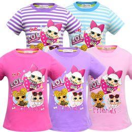 Girls Wearing Short Shirts NZ - T shirt 3D color Printing New Cartoon Girls Short sleeve T-shirt Summer Breathable children's wear Kids Children Outwear Top Clothing 2242-2