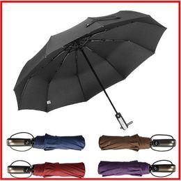Umbrella men black online shopping - 2019 FNew Automatic Three Folding Automatic Umbrella Sun Rain Women Male Auto Luxury Windproof Travel Umbrellas For Men Black