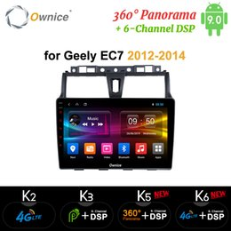 optical player UK - Ownice K5 K6 Android 9.0 360 Panorama Car Radio Audio dvd player for Geely EC7 2014 2015 2016 Navi GPS 4G LTE DSP Optical car dvd