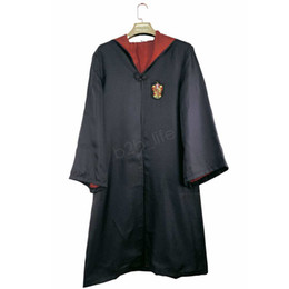 harry potter kids robe cloak UK - Fashion-Harry Potter Robe Cloak Cape Cosplay Costume Kids Adult Harry Potter Robe Cloak Gryffindor Slytherin Ravenclaw Robe cloak LJJA2789