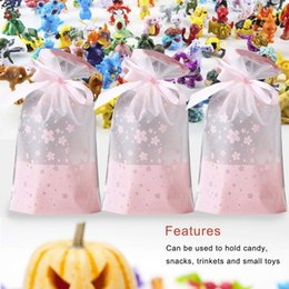 abs plastic stock UK - 50 PCs Party Favor Bags, Plastic Drawstring Gift Treat Bag Pouch, Candy Cookie Bag For Wedding Party Bridal Baby Shower Birthday Kitchen Sto