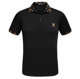 3fae51467b1 New 2019 Fashion Mens Designer T Shirts High Quality Printing Mens Luxury  Brand Casual Cotton polo T Shirt Plus Size M-3XL A071