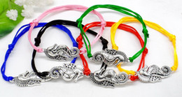 Horse Gifts Sale Australia - New Hot Sale Lucky Sea Horse Charm Pendant Multicolor Adjustable Nylon Rope Bracelet Fashion Handcrafted Jewelry Woman Man Best Friend Gift