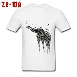 6435e95d50f7 Giraffe Ink T-shirts Fashion Design Men T Shirt 2018 Black White Tops Tees  Cotton Artist Shirt Clothing Short Sleeve Crew Neck