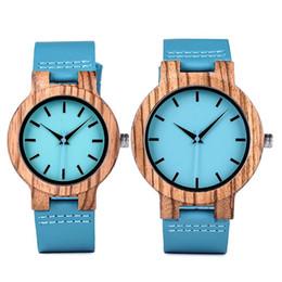 $enCountryForm.capitalKeyWord Australia - BOBO BIRD Lovers' Watches Women Wooden Men Watch Turquoise Blue Timepieces in Gift Box Relogio